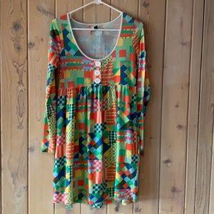 Insight• Colorful Mod/ Geometric Dress Size 6